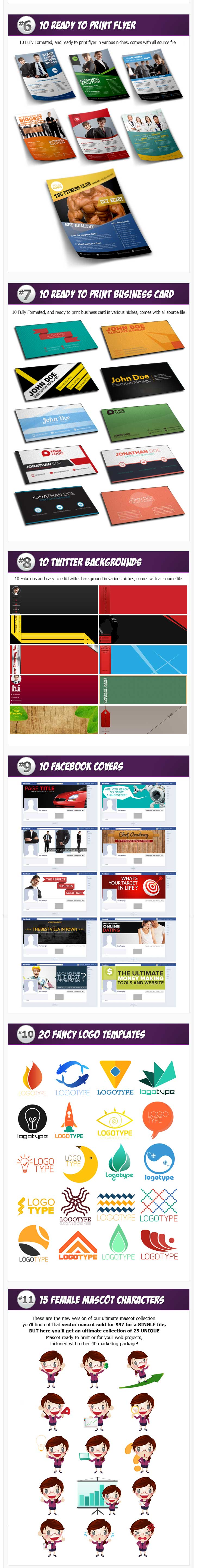 giant marketing kit graphics vol 2. - Product Elements